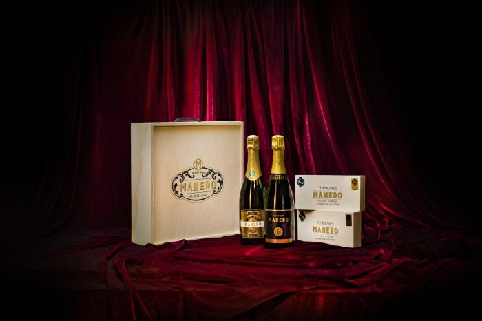 Caja Cava Champagne y Turron